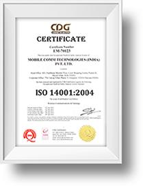 CDG ISO 14001:2004 Certificate