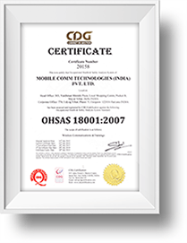 CDG OHSAS 18001:2007 Certificate
